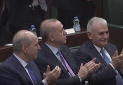 Cumhurbaşkanı Erdoğana grup toplantısında büyük sürpriz