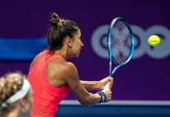 Milli tenisçi Çağla Büyükakçay, Katarda çeyrek finalde