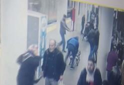 Metro istasyonunda polise saldırı