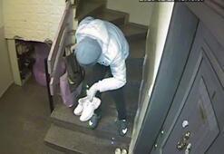 Ayakkabıları seçerek çalan hırsız kamerada
