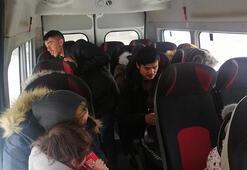 Çanakkalede 15 kaçak göçmen yakalandı
