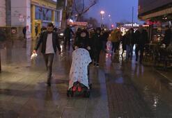 İstanbulda etkili olan lodos vatandaşlara zor anlar yaşattı