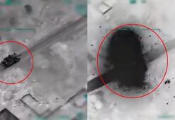 Son dakika: İşte yeni görüntüler İdlibdeki hedefler böyle vuruldu...