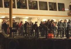 İstanbul'da gece hizmet verecek olan vapur seferleri başladı
