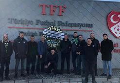 Bursasporlu taraftarlardan TFFye protesto