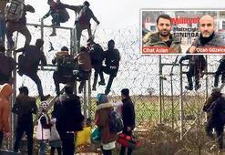 Merdivenle Yunan sınırını aştılar