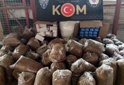 Adanada 940 bin lira değerinde kaçak sigara ve içki ele geçirildi