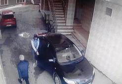 Camide bir gün arayla gerçekleşen 2 hırsızlık kamerada