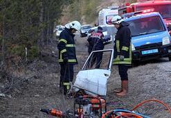 Kastamonuda feci kaza: Geriye bu görüntü kaldı...