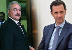 Son dakika Beşar Esad rejiminden Libya hamlesi Haftere verdiler