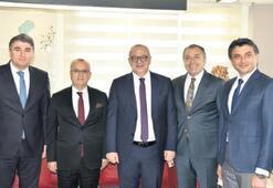 Başkanlar, Ergün'le projeleri konuştu