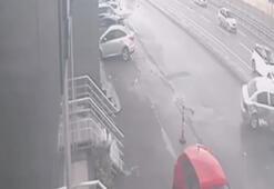 Şile Otoyolundaki trafik kazası kamerada