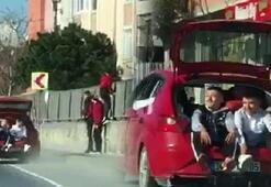 İstanbulun göbeğinde tehlikeli yolculuk