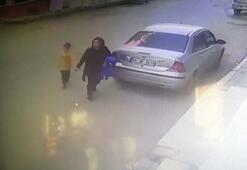 Anne ve oğlu römorkun altında kalmaktan son anda kurtuldu