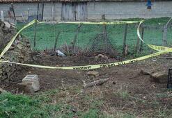 Evin bahçesinde tank topu mühimmatı bulundu