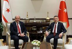 Cumhurbaşkanı Yardımcısı Oktay, KKTC Başbakanı Ersin Tatarı kabul  etti