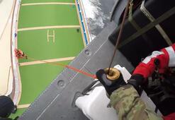 ABDde bir yolcusu koronavirüsten ölen gemiye havadan test kiti bırakıldı