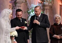 Cumhurbaşkanı Erdoğan yeğeninin nikah şahitliğini yaptı