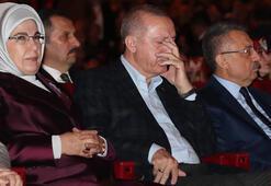 Salonda duygu dolu anlar Cumhurbaşkanı Erdoğan gözyaşlarını tutamadı