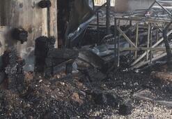 Midillide sığınmacıların okulunda yangın çıktı