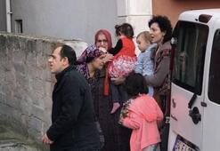 Şişli'de korku dolu anlar Çocuklarıyla beraber kaçtı