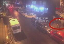 Fenerbahçenin tribün liderlerinden Mehmet Altunkaynakın vurulma anı kamerada
