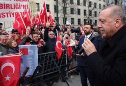 Cumhurbaşkanı Erdoğan Brükselde gurbetçilere seslendi