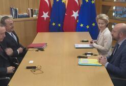 Cumhurbaşkanı Erdoğan, AB liderleriyle üçlü görüşme gerçekleştirdi