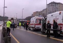 Son dakika... Haliç Köprüsünde metrobüs kazası