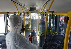 Çanakkalede toplu taşıma araçlarında corona virüs önlemi