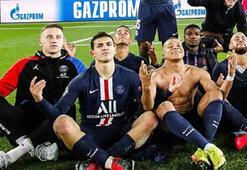 Paris Saint-Germainli yıldızlar zafer sarhoşu