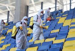 Eryaman Stadyumunda koronavirüs temizliği