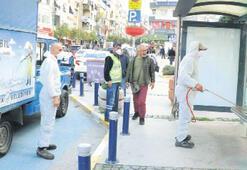 Balçova'da kalabalık bölgelere ilaçlama