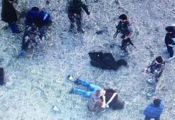 Yakupun katillerinin yakalanma anı drone ile görüntülendi