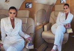 Kim Kardashianın çantasının fiyatı dudak uçuklatıyor