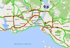Son dakika | İstanbulda trafik kilit Yoğunluk yüzde 69a ulaştı