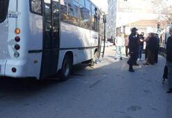 Halk otobüsü yaşlı kadına çarptı