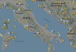 İtalya hava sahasındaki uçak trafiğindeki büyük düşüş radara da yansıdı
