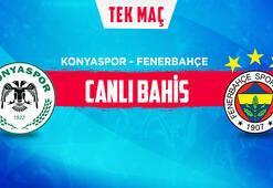 Konyaspor - Fenerbahçe maçı canlı bahis heyecanı Misli.comda
