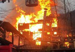 4 katlı bina da büyük panik Alevler tüm katları sardı
