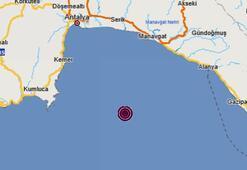 Son dakika | Akdenizde korkutan deprem Depremin büyüklüğü...