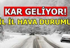 Hava durumu | Kar geliyor Ankara - İstanbul - İzmir ve diğer illerin hava durumu