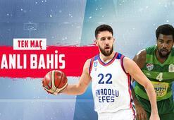 Anadolu Efes - Bursaspor maçı canlı bahis heyecanı Misli.comda