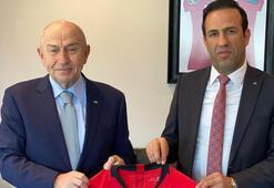 Yeni Malatyaspordan TFF Başkanı Özdemire ziyaret