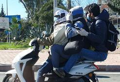 Antalya'da corona virüs önlemli tehlikeli yolculuk