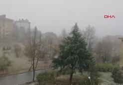Düzcede kar yağışı