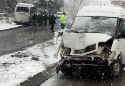 Kayseride 5 servis ve 1 TIR çarpıştı 18 kişi yaralandı