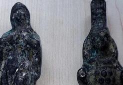 Eskişehirde Roma dönemi heykeller ele geçirildi