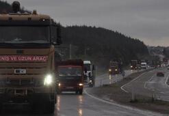 Zırhlı araçlar Suriyeye doğru yola çıktı