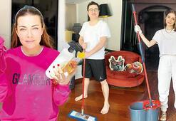 Ünlüler ev temizliğini kendileri yapıyor Corona hayatımıza girdiğinden beri...